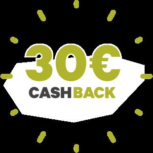 30€ Cash Back für Sie